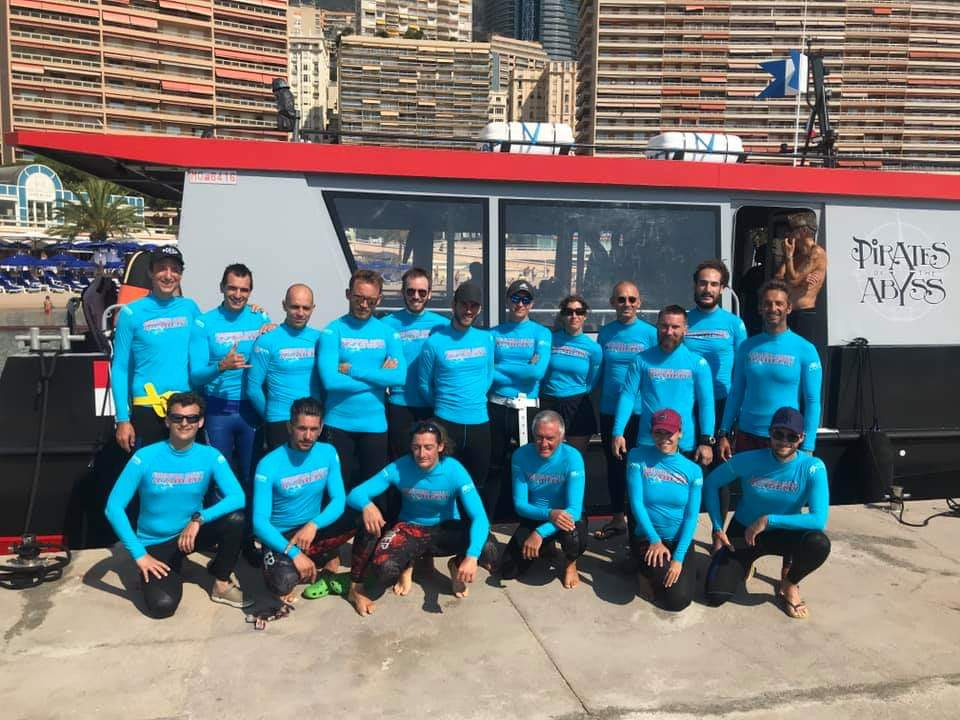 Freediving safety team